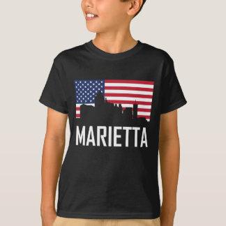Marietta Georgia Skyline American Flag T-Shirt