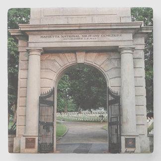 Marietta National Cemetery, Marietta, Georgia Stone Coaster