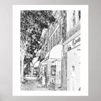Marietta Square Shops Town Square Small Town Poster