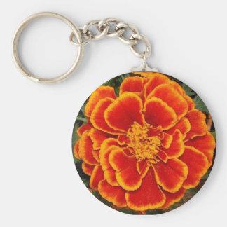 marigold basic round button keychain