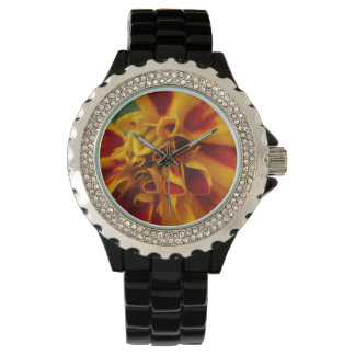 Marigold Bicolor Yellow Red Wrist Watch