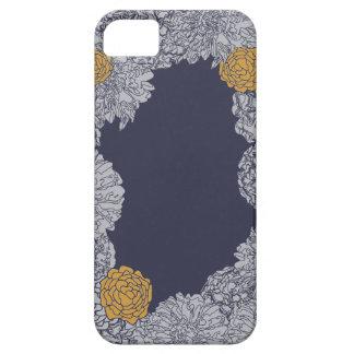 Marigold Blooms Navy iPhone / iPad case