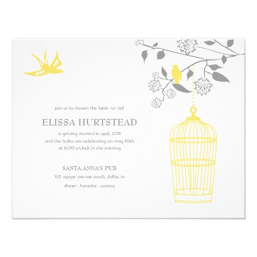 Marigold Bridal Shower Invitations