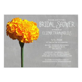 Marigold Bridal Shower Invitations