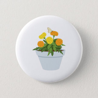 Marigold Butterfly 2 Inch Round Button