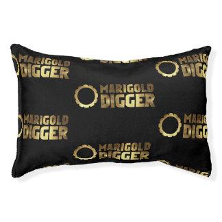 Marigold digger black gold pet bed