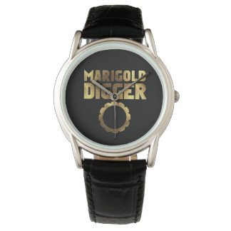 Marigold digger black gold wristwatches