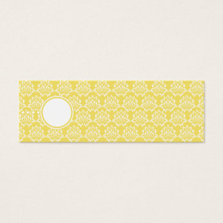 Marigold Favor Tags Skinny Profile Cards