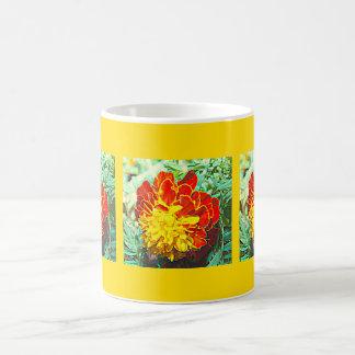 Marigold Floral Emblem Coffee Mug