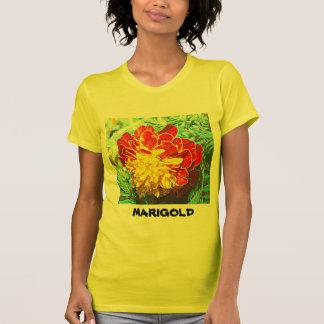 Marigold Floral Emblem T-Shirt