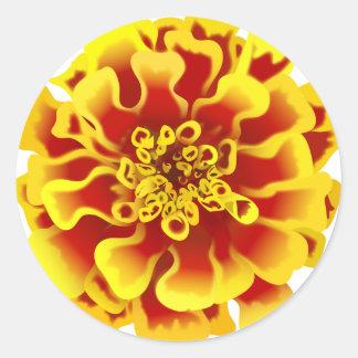 Marigold Flower Classic Round Sticker