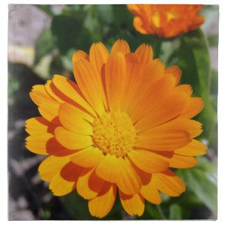 marigold flower napkin