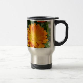 marigold flower travel mug