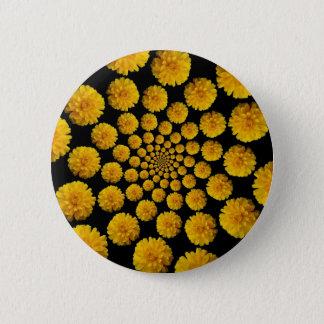 Marigold Flowers 2 Inch Round Button