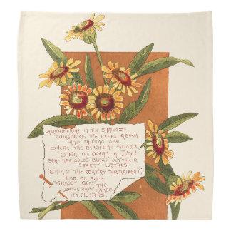 Marigold Flowers Island Floral Poem Do-rag