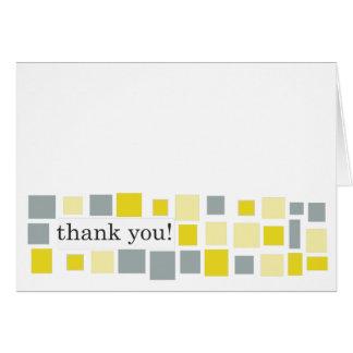 Marigold & Grey Mosaic Thank You Note Card