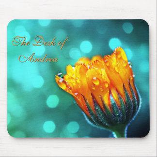 Marigold on Aqua Mouse Pad
