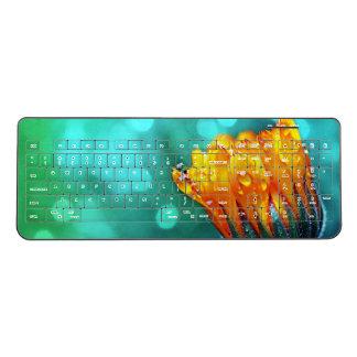 Marigold on Aqua Wireless Keyboard
