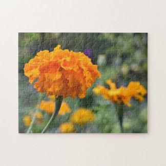 Marigold Orange Flower Nature Photography Garden Jigsaw Puzzle