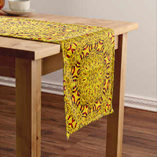 Marigolds Colorful Kaleidoscope    Table Runner