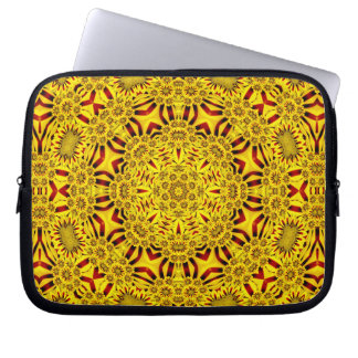 Marigolds Colorful Neoprene Laptop Sleeves