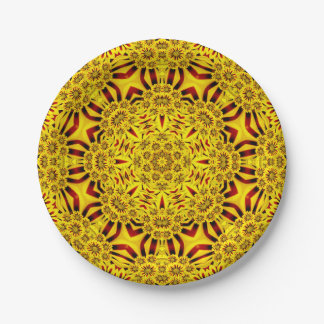 Marigolds Colorful Paper Plates 7 Inch Paper Plate
