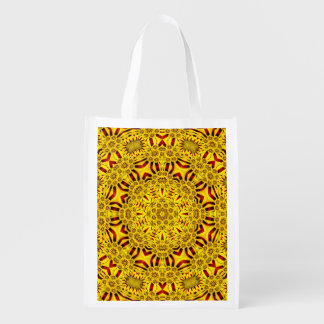 Marigolds Colorful Reusable Bags Market Totes
