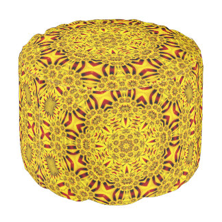 Marigolds Colorful Round Pouf