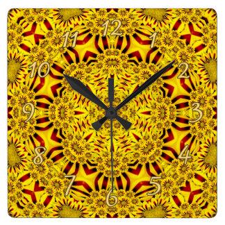 Marigolds Colorful Wall Clocks
