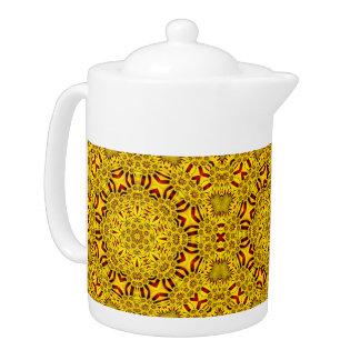 Marigolds  Kaleidoscope  Colorful Teapots
