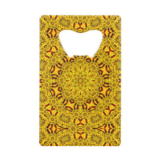 Marigolds Kaleidoscope      Credit Card Openers Wallet Bottle Opener