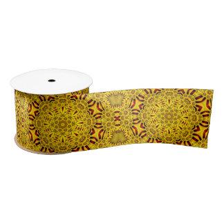 "Marigolds Kaleidoscope     Ribbon. 1.5"" or 3"" Satin Ribbon"