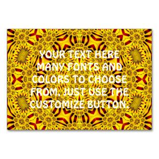 Marigolds Kaleidoscope  Tablecards Table Card
