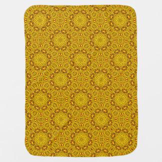 Marigolds Tiled Design Baby Blankets
