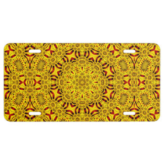Marigolds  Vintage Kaleidoscope   License Plates