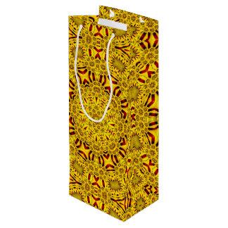 Marigolds Vintage Kaleidoscope  Wine Bags