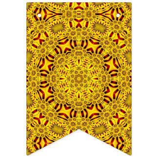 Marigolds  Yellow Vintage Kaleidoscope Flags