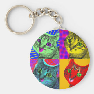 Marilyn Cats Basic Round Button Keychain