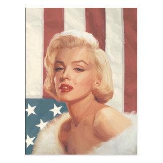 Marilyn Flag Postcard