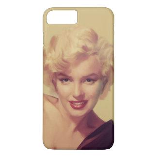 Marilyn in Black iPhone 7 Plus Case