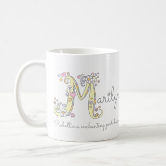 Marilyn letter M decorative name with meaning mug