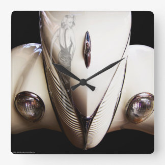Marilyn's Ride Square Wall Clock