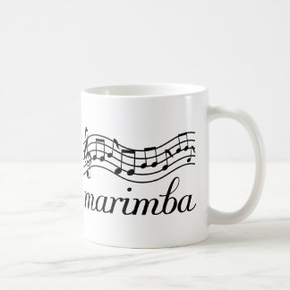 Marimba Black Music Staff Coffee Mug