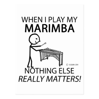 Marimba Nothing Else Matters Post Cards