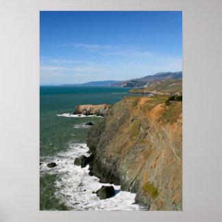 Marin Headlands, Coastal Cliffs Poster