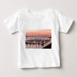 Marina along Columbia River at Sunset in Oregon Baby T-Shirt