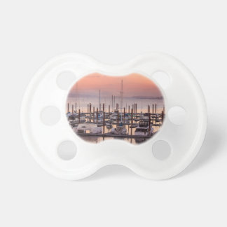 Marina along Columbia River at Sunset in Oregon Pacifier