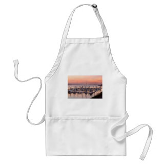 Marina along Columbia River at Sunset in Oregon Standard Apron