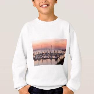 Marina along Columbia River at Sunset in Oregon Sweatshirt
