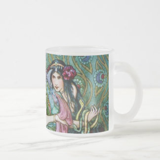 Marina and the Dragon 10 Oz Frosted Glass Coffee Mug